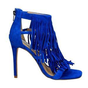 Steve Madden Electric Blue Fringe Heels